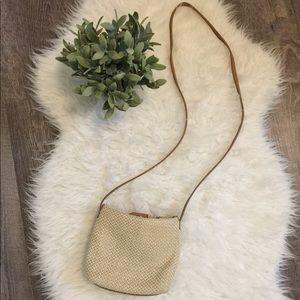 Fossil woven crossbody purse